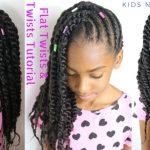 KIDS NATURAL HAIR STYLES | FLAT TWISTS & 2 STRAND TWISTS TUTORIAL [Video]