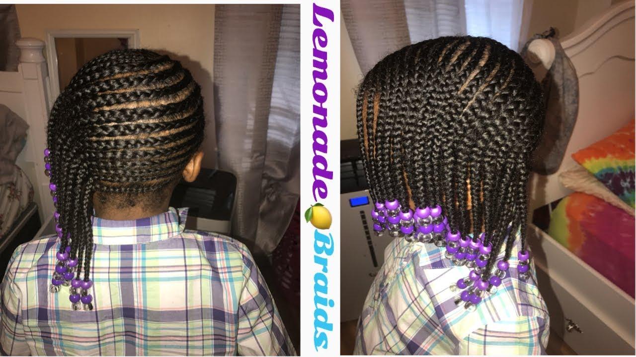 Lemonade Braids Kids Version Video Black Hair