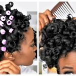 My Best Heatless Perm Rod Set On 4C Natural Hair : TréLuxe & Purple Perm Rods Tutorial [Video]