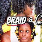 Natural Hair Braid & Curl [Video]