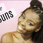 Natural Hairstyle | Half Up Half Down Space Buns [Video]