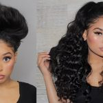 Quick Curly Half Up Half Down Hairstyle With U-Part Wig [Video]