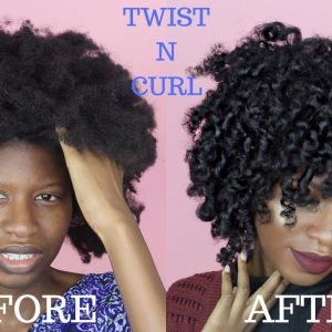 TWIST N' CURL FOR TYPE (4A,4B,4C) NATURAL HAIR | ft. LA NATURALS [Video]