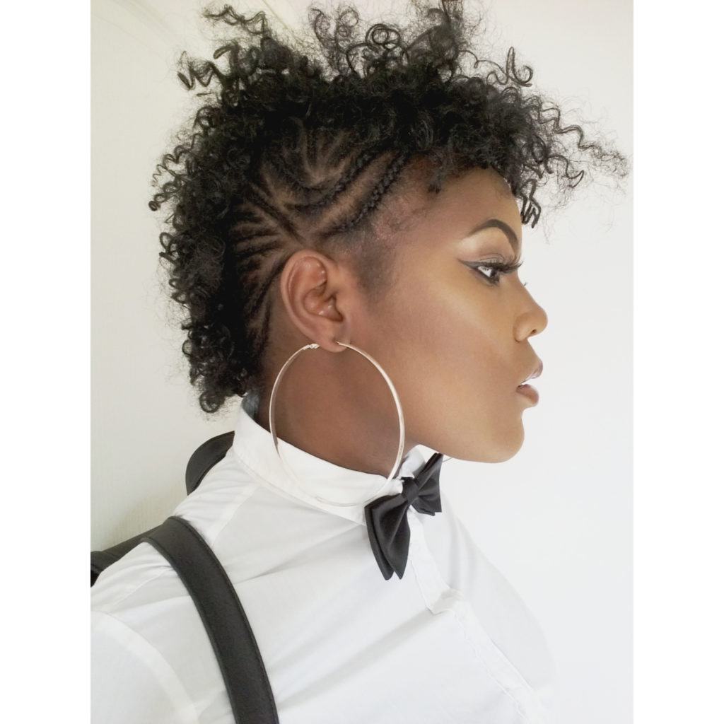 Faux Hawk With Cornrows Crochet Braids Black Hair