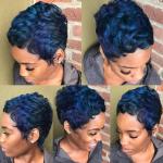 Fun shades of blue via @hstylze