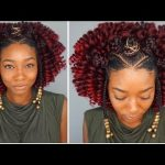 Black Protective Hairstyles | Braided Bantu Knot + Curly Crochet for Natural & Relaxed Hair [Video]