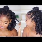 Braided Top Knot Style on Natural Hair FT. Mielle Organics Pomegranate and Honey Collection [Video]