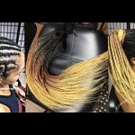 Crochet braids with pre-braided hair
