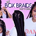 How to: BOX BRAIDS | Rubber Band Method | Won't Pull Your Hair Out! [Video]