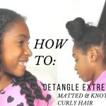 HOW TO DETANGLE MATTED/ KNOTTED KINKY CURLY NATURAL HAIR [Video]