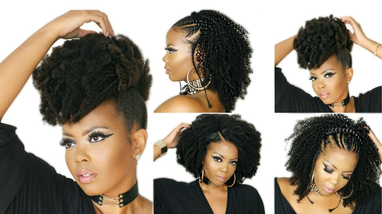 How To Style 4c Natural Hair W Kinky Curly Clip In