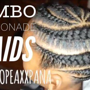 Jumbo Lemonade Braids | Jumbo Feed In Braids [Video]