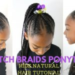 STITCH BRAIDS PONYTAIL ON KIDS NATURAL HAIR ( NO EXTENSIONS) [Video]