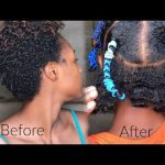 Stretch Natural Hair|(No Heat) Banding Method for Tight Curls