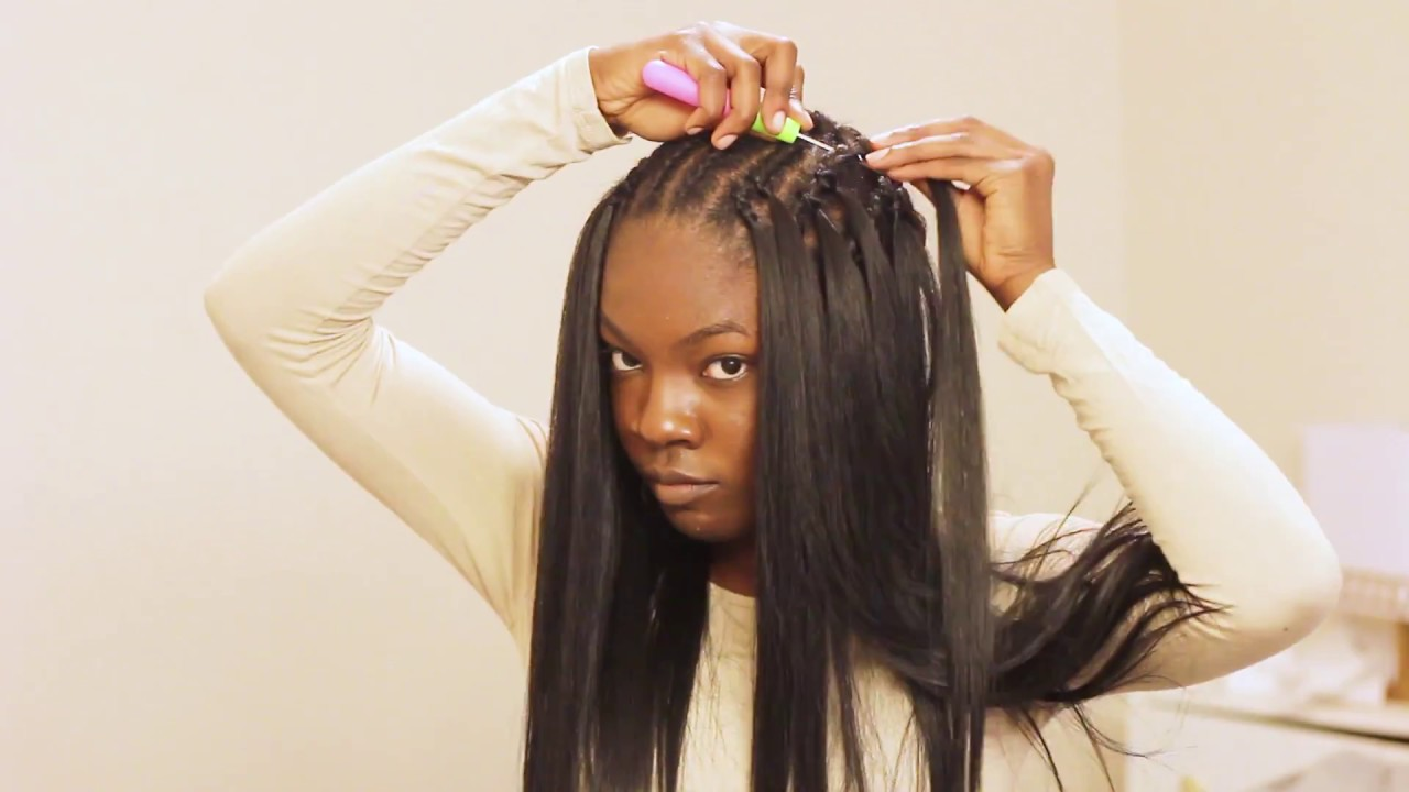 VERY DETAILED Straight Crochet Braids Tutorial Ft. Italian