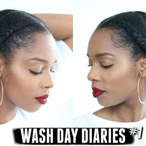WASH DAY DIARIES | PROTECTIVE STYLE ON 4B, 4C NATURAL HAIR + CANTU VS CANTU! #001 [Video]