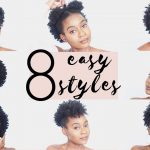 4C NATURAL HAIRSTYLES – 8 Easy Hairstyles For Short 4C Natural Hair [Video]