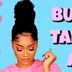 Sleek High Ninja Bun on Dry Natural Hair Tutorial [Video]