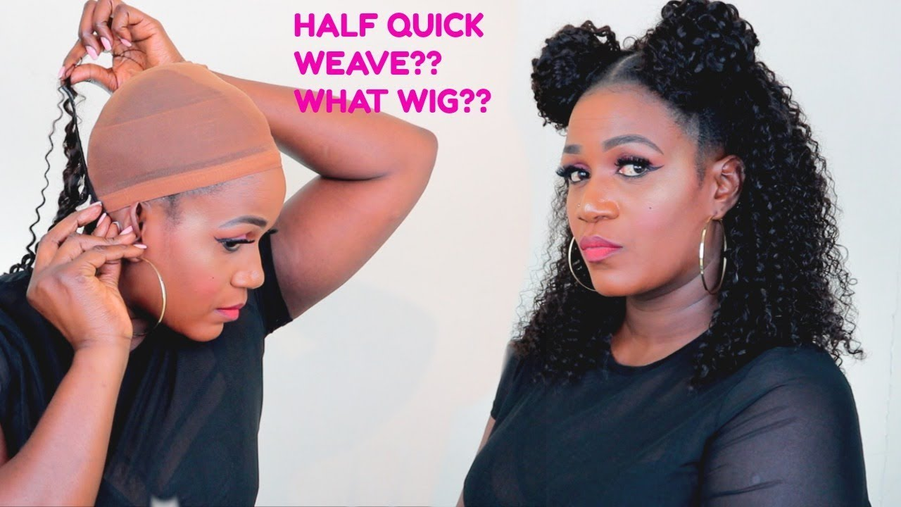 30 Minutes Half Up Half Down Quick Weave On A Cap Video