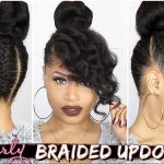 French Braided Curly Updo ➟ Natural Hair How-To [Video]