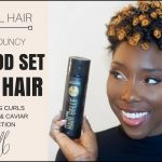 Flexi Rod Set on Short 4C Hair using the new CURLS Cashmere and Caviar Collection [Video]