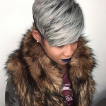 Fierce gray pixie via @hairbylatise