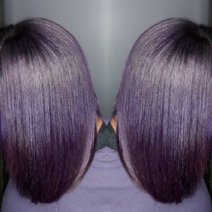 Yummy purple via @ebony_michellethestylist