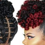 Braidless Crochet – No Cornrows – High Puff Tutorial – Updo Natural Hairstyle [Video]