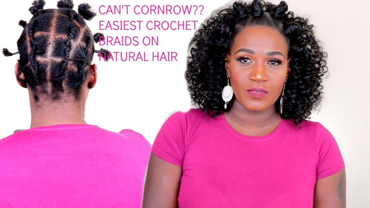 Easy Bantu Knots Amp Crochet Braids On Natural Hair No