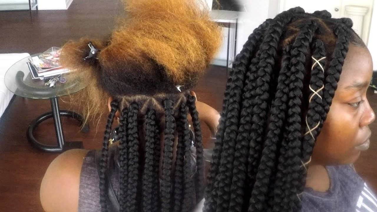 How To Tuck Colored Hair Into Braiding Hair [Video