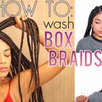 How To Wash Box Braids NO FRIZZ + Drying Hacks! [Video]