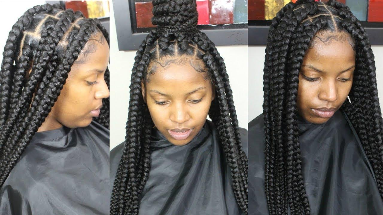 Jumbo Box Braids Tutorial Video Black Hair Information
