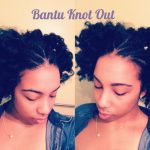 Bantu Knot Out on Stretched Natural Hair w/ Curls Blueberry Bliss