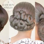 NATURAL HAIR HOW TO: 3 LOW BUN STYLES