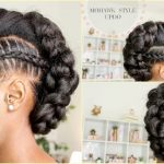 STITCH BRAID MOHAWK UPDO