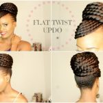 FLAST TWIST UPDO (protective style)