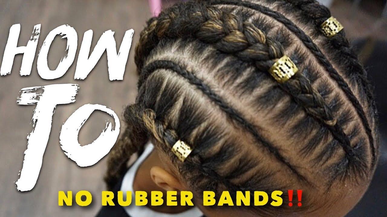Stitch Braid Tutorial No Rubber Bands Video Black