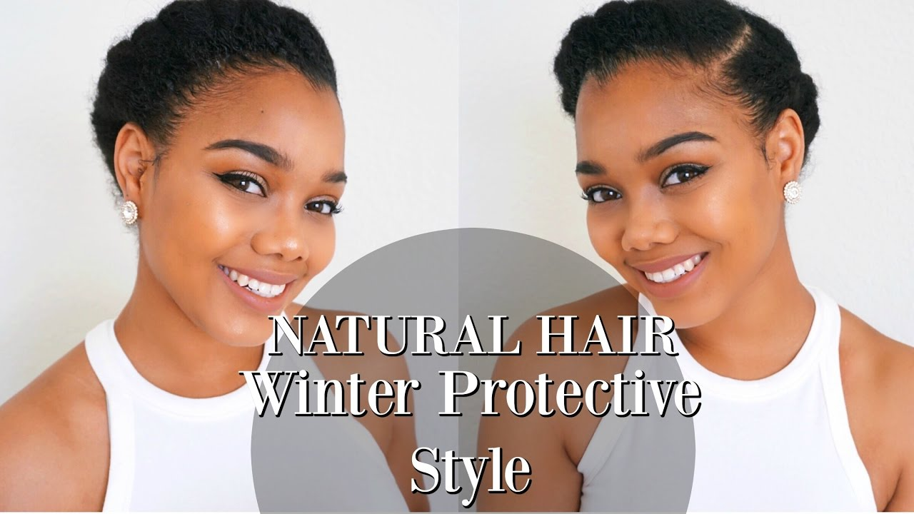TUTORIAL Winter Protective Style For NATURAL HAIR And