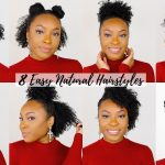 8 QUICK & EASY Hairstyles for Short/Medium Natural Hair | Perfect for Type 4 Hair!! [Video]