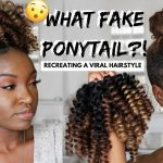 Faux Curly Ponytail | Recreating VIRAL Hairstyle [Video]