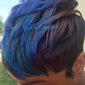 Beautiful peacock colors by @salon_b_reckless