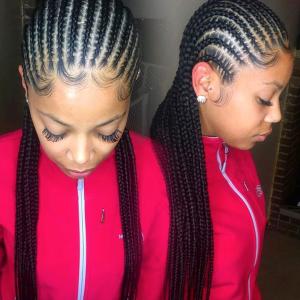 Sleek braids by @shay_braidz_317