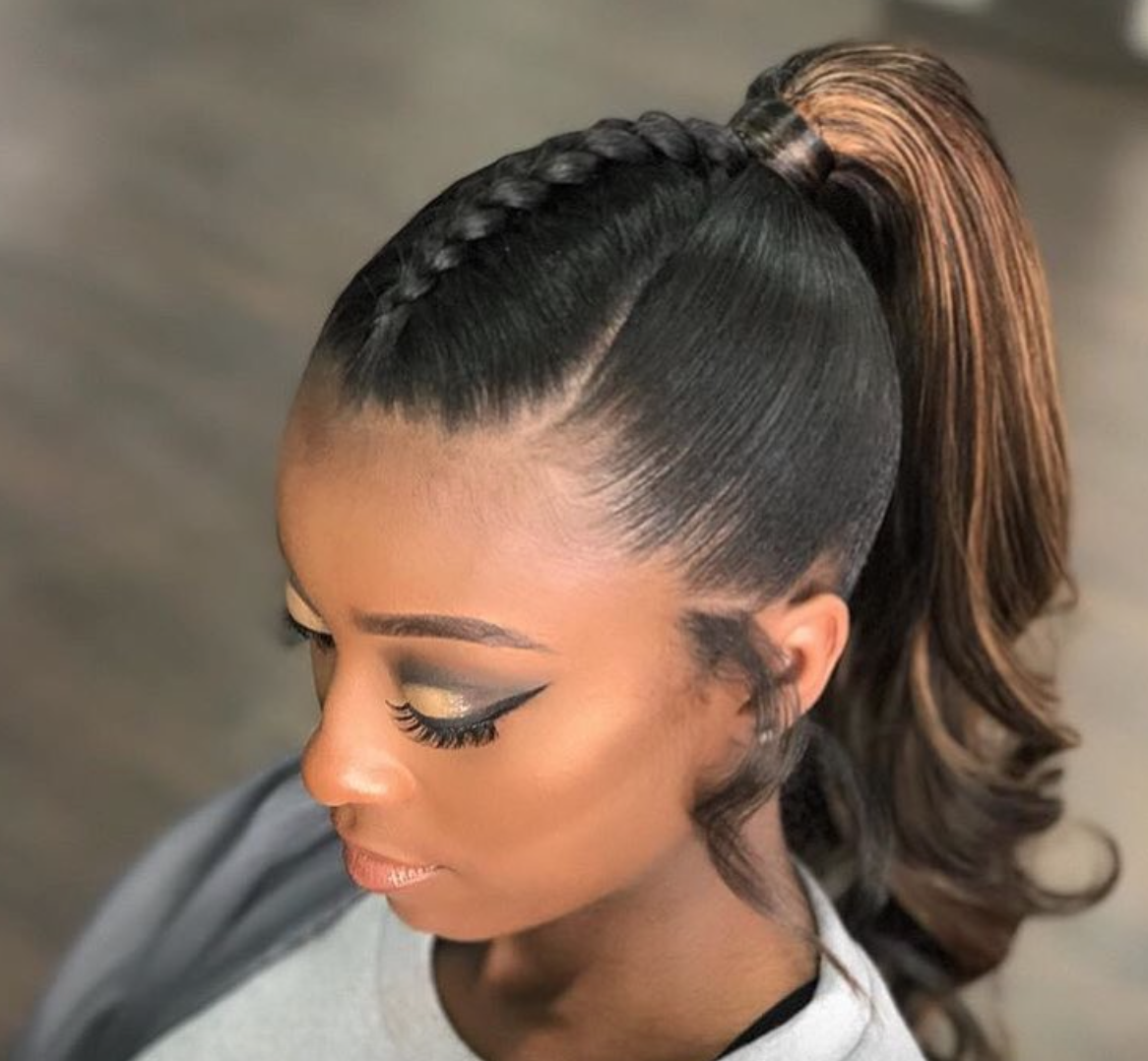 ponitail hair style ponytail by keystylist black hair information 6736