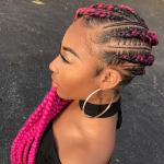 Fierce pink via Braids by Jherese