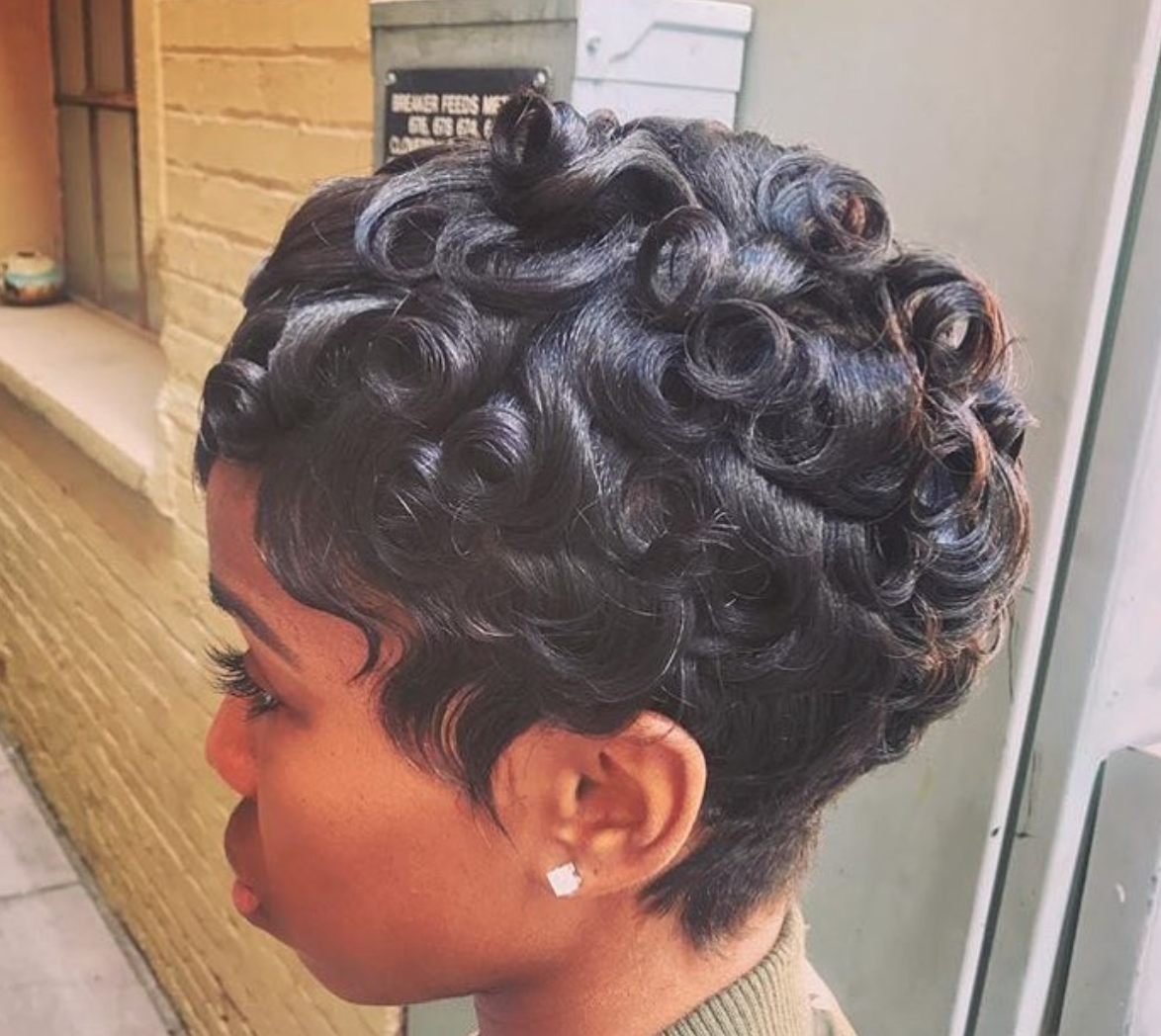 Cute Pin Curls Thebeautyfreek Black Hair Information
