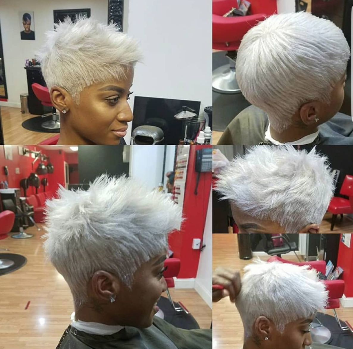 Edgy Cut And Color Via Andrea Cheese Black Hair Information