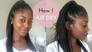 Air Drying Relaxed Hair