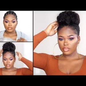 How I Went From Cornrows To A Huge Voluminous Bun [Video]
