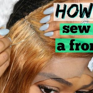 How to Sew on a Lace Frontal | No Hair Out | DIY Sew-in Detailed for Beginners | Lonqi Hair [Video]