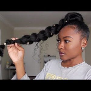 JUMBO BRAID GODDESS PONYTAIL | Natural Hair [Video]